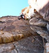 "Rock Climbing Photo: The ""trickier than it looks"" initial cor..."