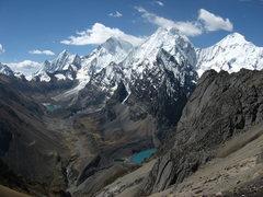 Rock Climbing Photo: Yerupaja and Siula Grande, Cordillera Huayhuash
