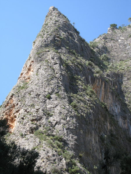 Rock Climbing Photo: Espolon as seen from the torrent. La Ley del Deseo...