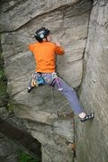 Rock Climbing Photo: CW on one of the easier trad leads @ Mormon Hollow...