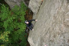 Rock Climbing Photo: I love CW's facial expression when he realizes tha...