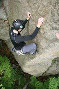 Rock Climbing Photo: CW slammed one last piece of pro, just before maki...