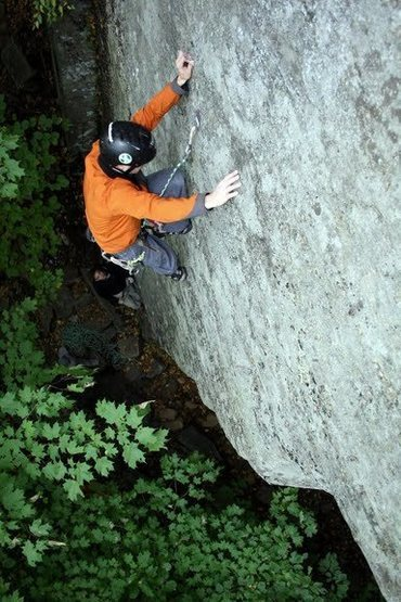 Rock Climbing Photo: Chris on a bolted sport route @ MH.