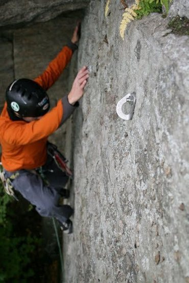 CW climbing the 5.7 bolted sport route.