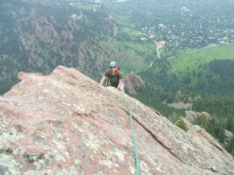 Stephen Wilfong enjoying the North Arete on a sunny June day.