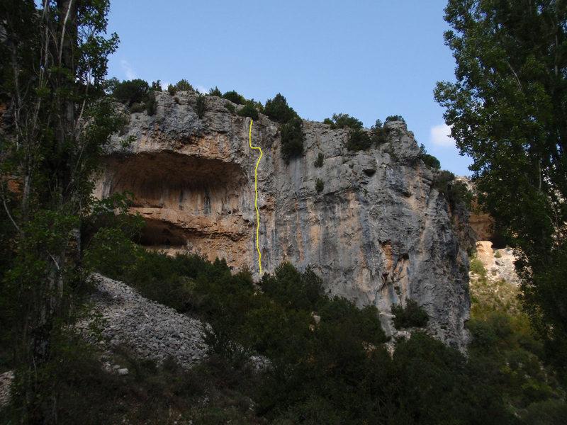 Rock Climbing Photo: The Criminal Tango wall, Roxy la Palmera in yellow...