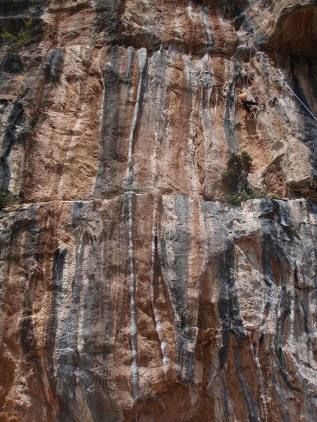 Rock Climbing Photo: The incredible tuffa line of Aromes de Montgrony