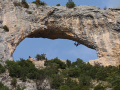 Rock Climbing Photo: Claude working his way up El Delfin.