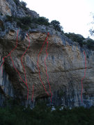 Rock Climbing Photo: The main portion of the main wall at La Surgencia....