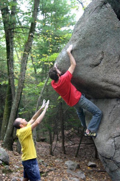 Rock Climbing Photo: Rocky getting close...