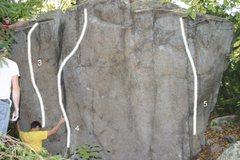Rock Climbing Photo: 3. Cuberty, V5. 4. The Sword, V4. 5. Snatch the Pe...