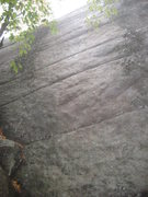 Rock Climbing Photo: you can see the start of the gully to the bottom l...