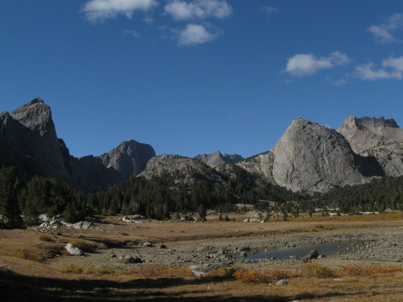 A view of the East Fork Valley upon entering from the south. Midsummer's Dome is the prominent dome on the right side.