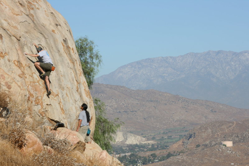 Rock Climbing Photo: Me on Joe Browns Helmet.