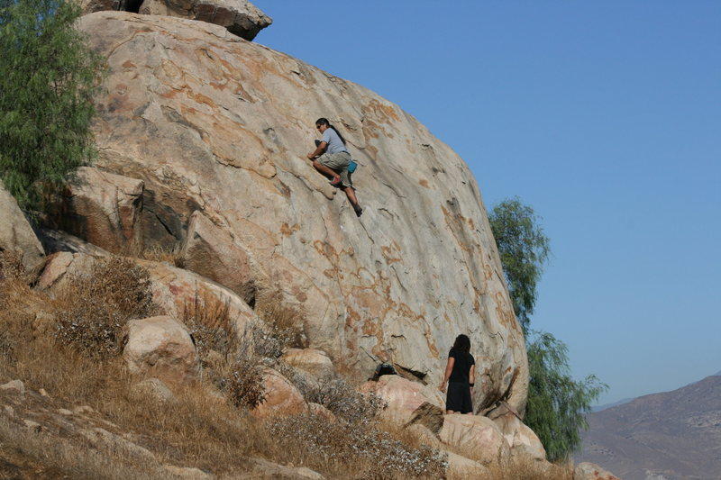 Al on Joe Browns Helmet. His first time on this climb. Nice on sight for him.