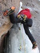 Rock Climbing Photo: Sebastien Morin on the crux