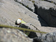 Rock Climbing Photo: Working up the sickle dihedral