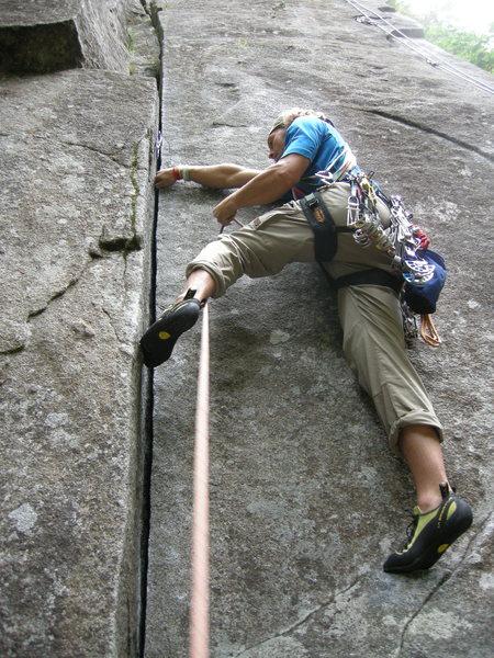 Rock Climbing Photo: Toxic Shock, 5.9 Index town walls, wa.