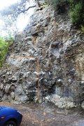 Rock Climbing Photo: Holiday Blues V3 Topo
