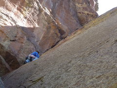 Rock Climbing Photo: Near the bottom of the beautiful corner.