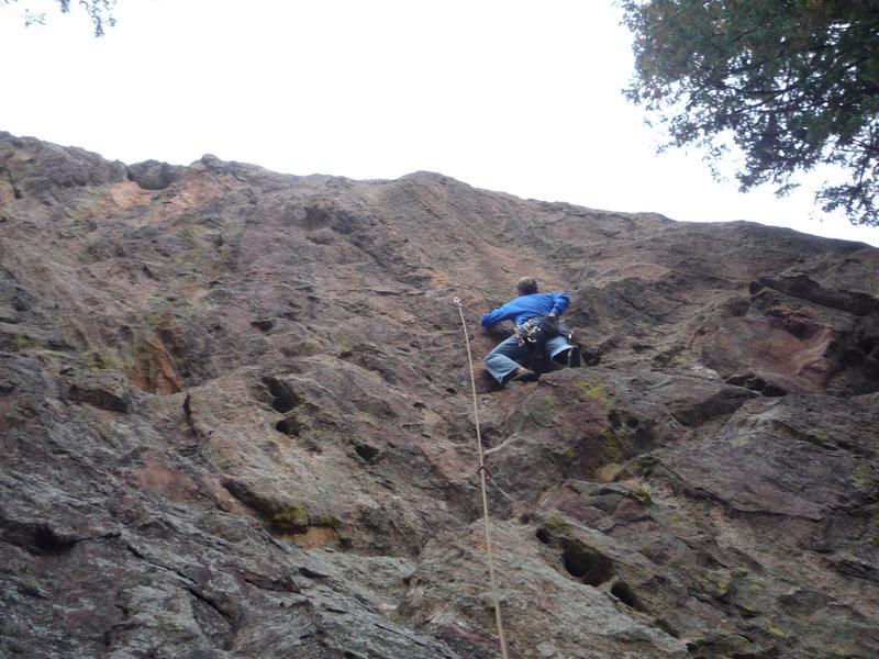Mark at the high, first bolt.
