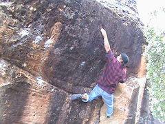 Rock Climbing Photo: Stickin' the pinch.