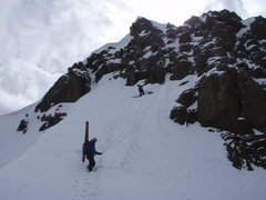 Rock Climbing Photo: Final pitch and rap off summit.  The rappel block ...