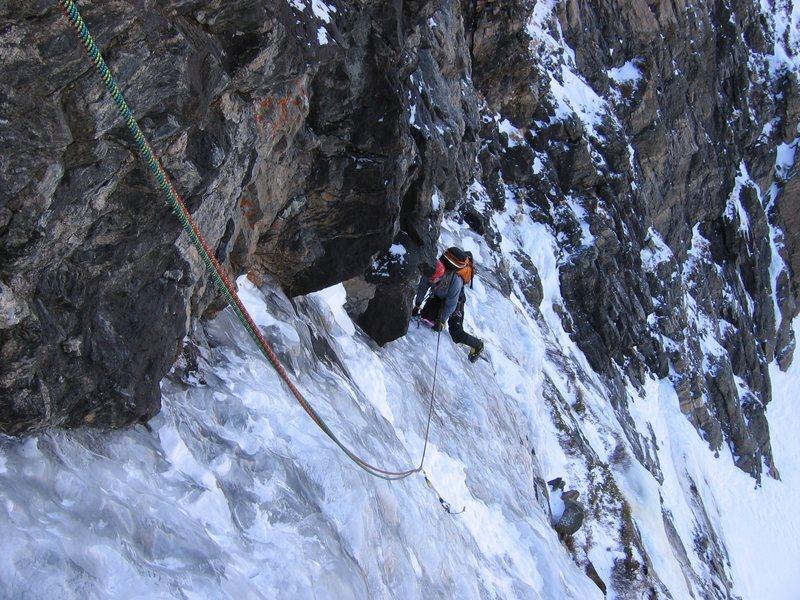 Rock Climbing Photo: All mixed up pitch 3
