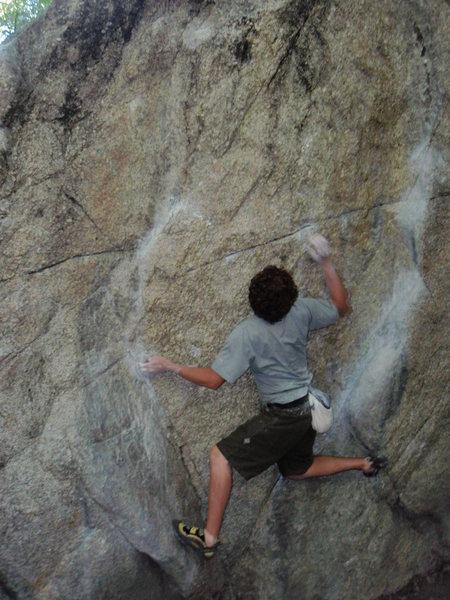 The Ramp, V2.  Gate Boulders. Little Cottonwood Canyon.<br> <br> Summer 2009.