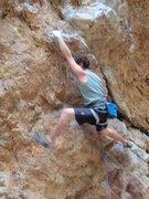 Rock Climbing Photo: Big Cottonwood Canyon.   Right Pile, 5.11d.   Summ...