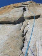 Rock Climbing Photo: Wally leading P30