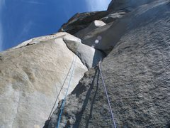 Rock Climbing Photo: Wally linking P27 & P28, two of the most beautiful...