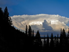 Rock Climbing Photo: Storm over Leigh Lake.