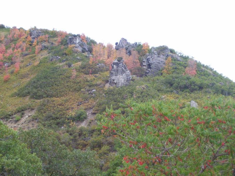 Rock Climbing Photo: Fall colors around Dr. Teeth