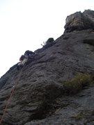 Rock Climbing Photo: Brett starts up