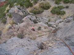 Rock Climbing Photo: Brett heads up pitch 2. This pitch is only so-so u...