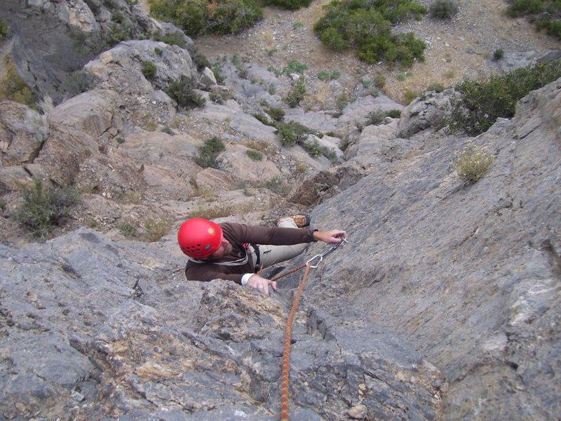 Rock Climbing Photo: Brett again on pitch 2