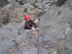 Rock Climbing Photo: Brett flashes a grin after I tell him that the fir...