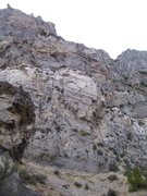 Rock Climbing Photo: The first large wall on the route...4 quality pitc...