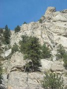 Rock Climbing Photo: Moonlight rock at the very top as seen from the di...