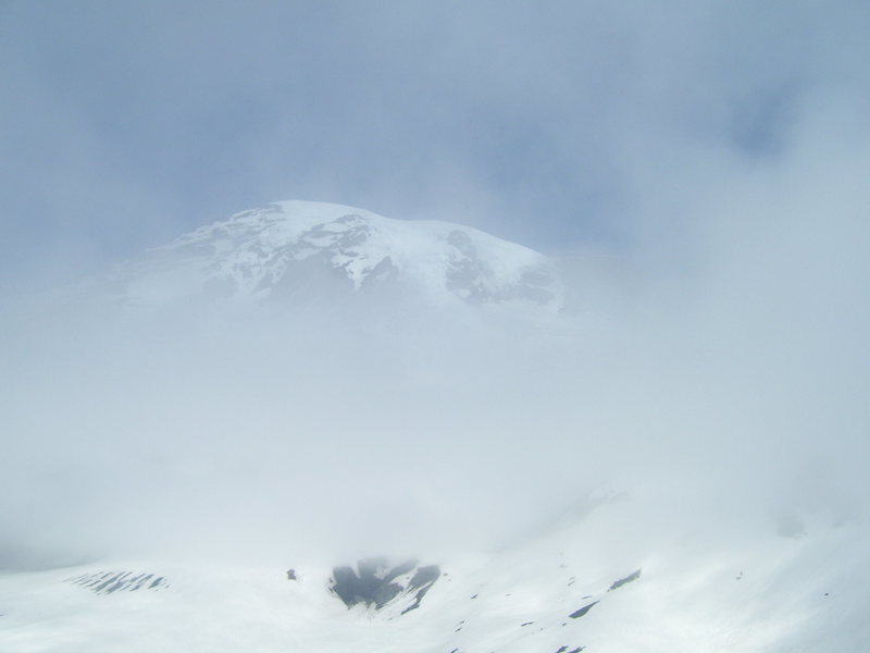 Clouds about the summit