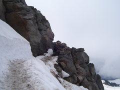 Rock Climbing Photo: trail cut in the cliff