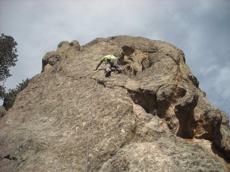 Rock Climbing Photo: Al at the third bolt.