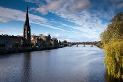 Rock Climbing Photo: River Tay in Perth.   You'll cross one of the brid...