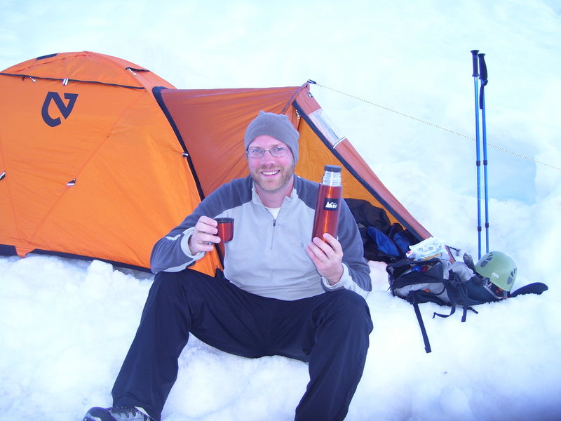 Rock Climbing Photo: Hot choc. really helps!