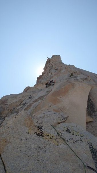Kurt Jensen on Pitch 1 of the Third Pillar, Mt. Dana.
