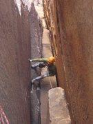 Rock Climbing Photo: Phil following, Epinephrine.