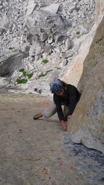 "Rock Climbing Photo: Mike Durant leading the corner pitch on ""OZ&q..."