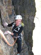 Rock Climbing Photo: Pizza Pan Belay- Maureen