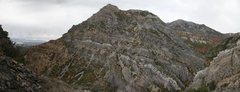 Rock Climbing Photo: 180 degree panoramic view of the north side of Roc...